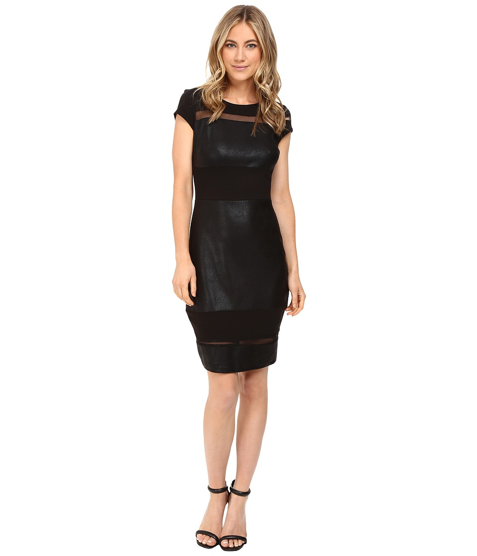 Sangria - Short Sleeve Sheath (Black) Women's Dress