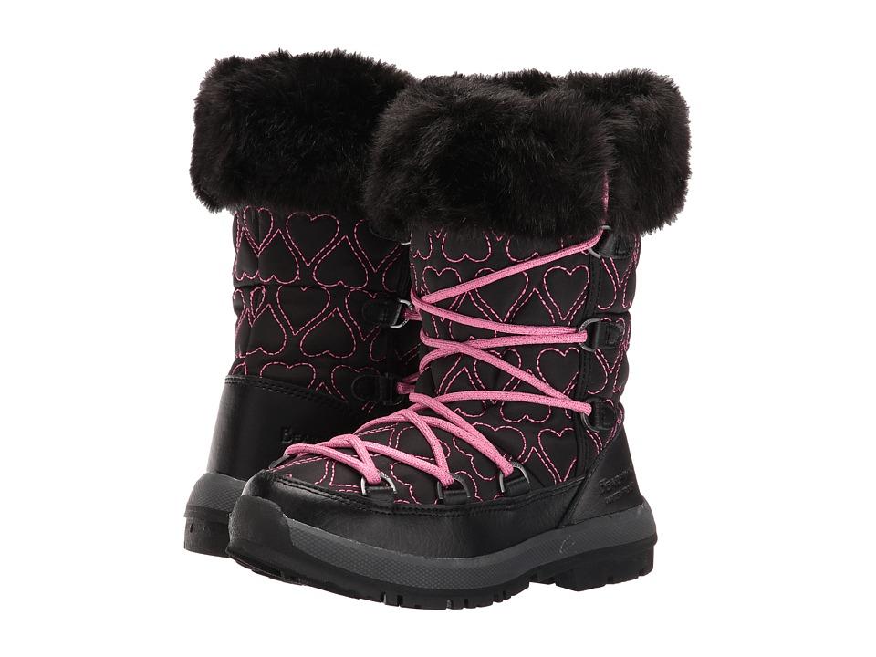 Bearpaw Kids - Meredith (Little Kid/Big Kid) (Black/Fuchsia) Girls Shoes