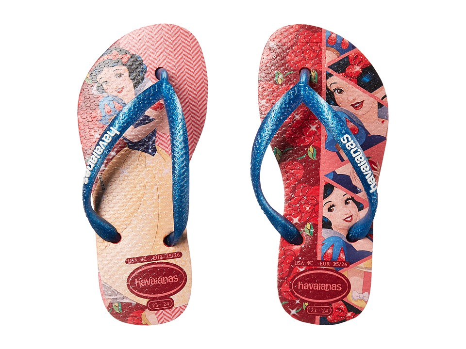 Havaianas Kids - Slim Princess Flip Flops (Toddler/Little Kid/Big Kid) (Ruby Red) Girls Shoes