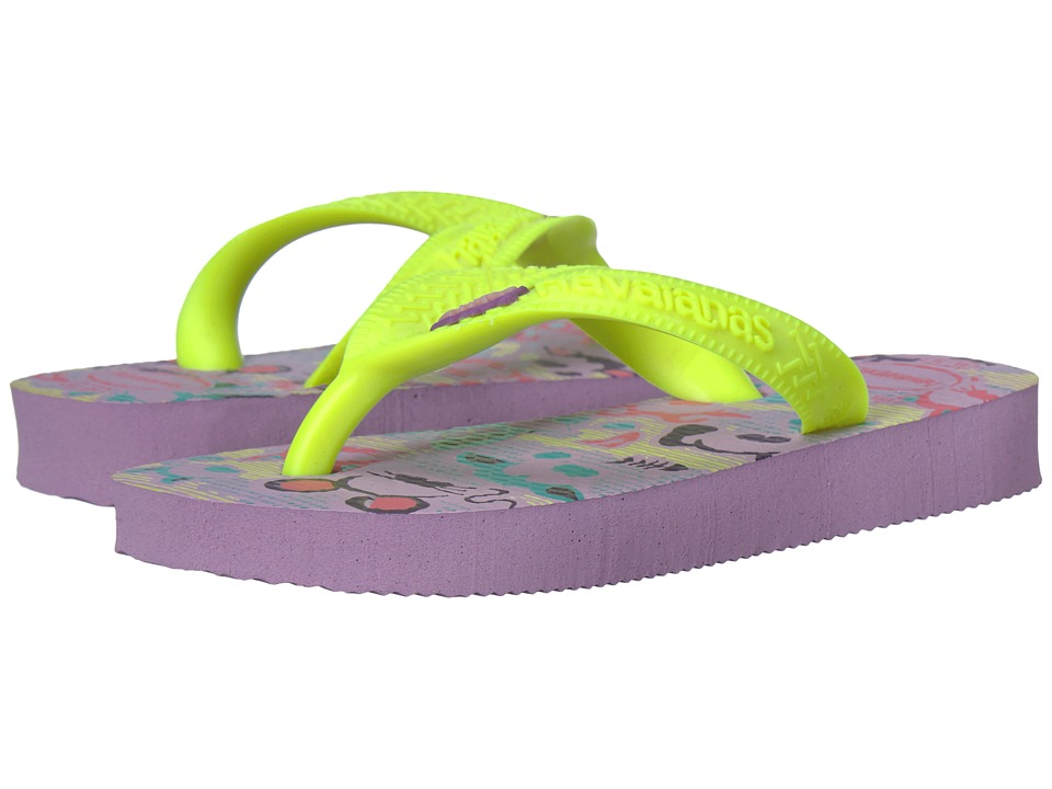 Havaianas Kids - Fantasy Flip Flops (Toddler/Little Kid/Big Kid) (Soft Lilac) Girls Shoes
