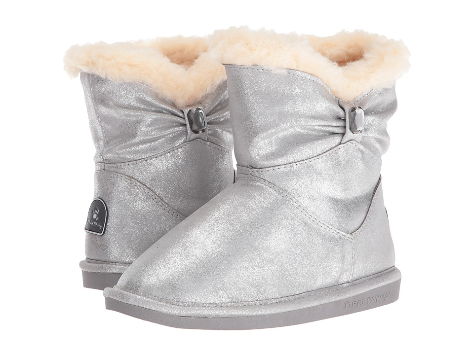 Bearpaw Kids - Robyn (Little Kid/Big Kid) (Pewter) Girls Shoes