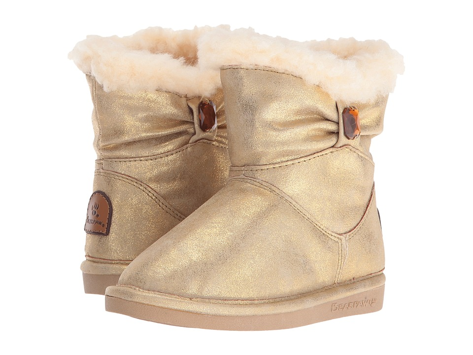 Bearpaw Kids - Robyn (Toddler/Little Kid) (Gold) Girls Shoes