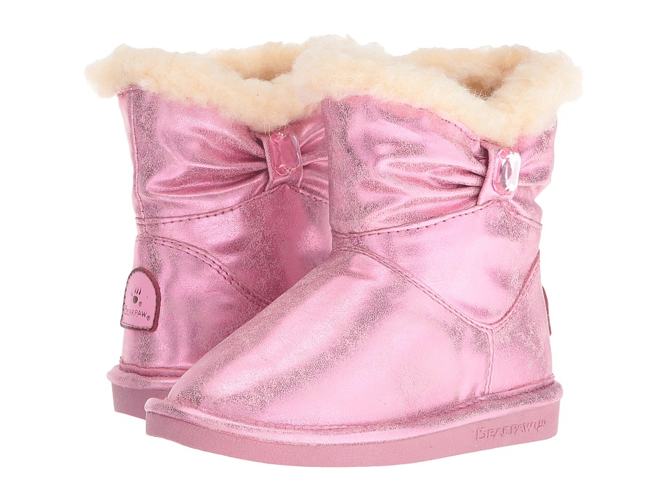 Bearpaw Kids - Robyn (Toddler/Little Kid) (Pink) Girls Shoes