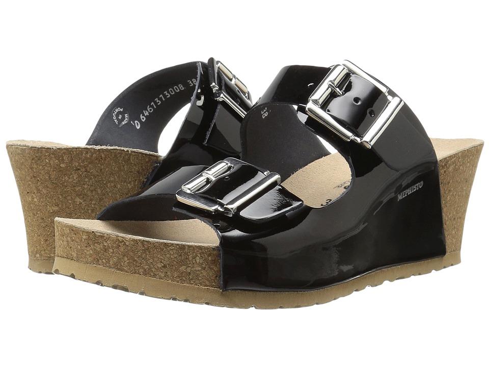 Mephisto - Lenia (Black Patent) Women's Shoes