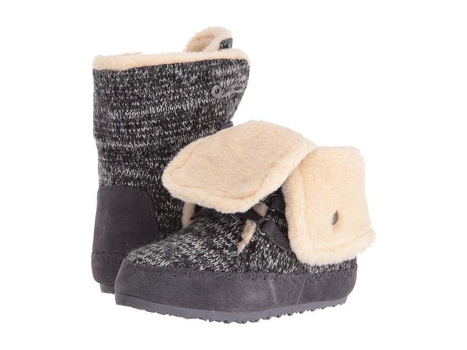 Bearpaw Kids - Suzy (Little Kid/Big Kid) (Black/Gray) Girls Shoes