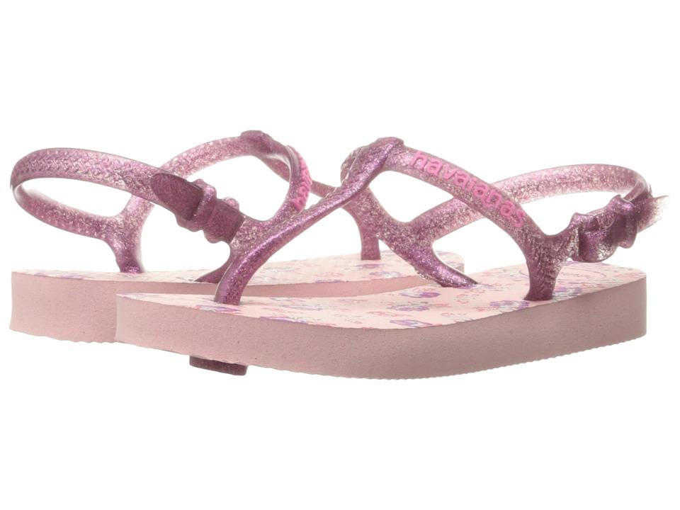 Havaianas Kids Freedom Print Sandals (Toddler/Little Kid/Big Kid) (Pearl Pink) Girls Shoes