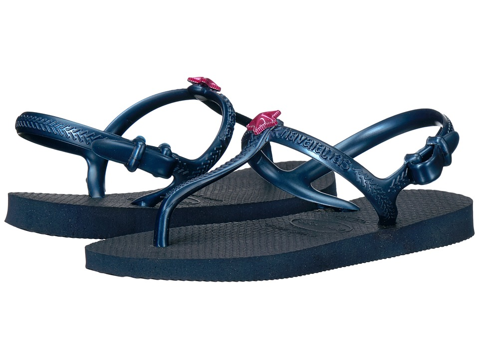 Havaianas Kids - Freedom Sandals (Toddler/Little Kid/Big Kid) (Navy Blue/Navy Blue) Girls Shoes
