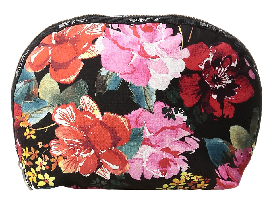 LeSportsac Half Moon Cosmetic (Romantics Black) Cosmetic Case