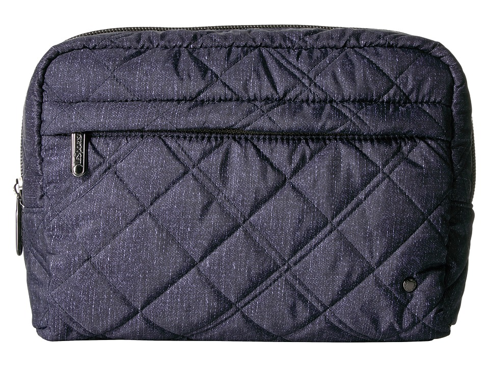LeSportsac City Large Central Cosmetic (Ink Denim Quilted) Cosmetic Case