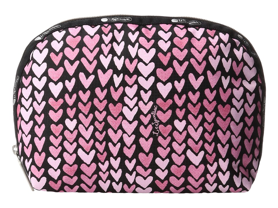 LeSportsac - Half Moon Cosmetic (Painted Hearts Pink) Cosmetic Case