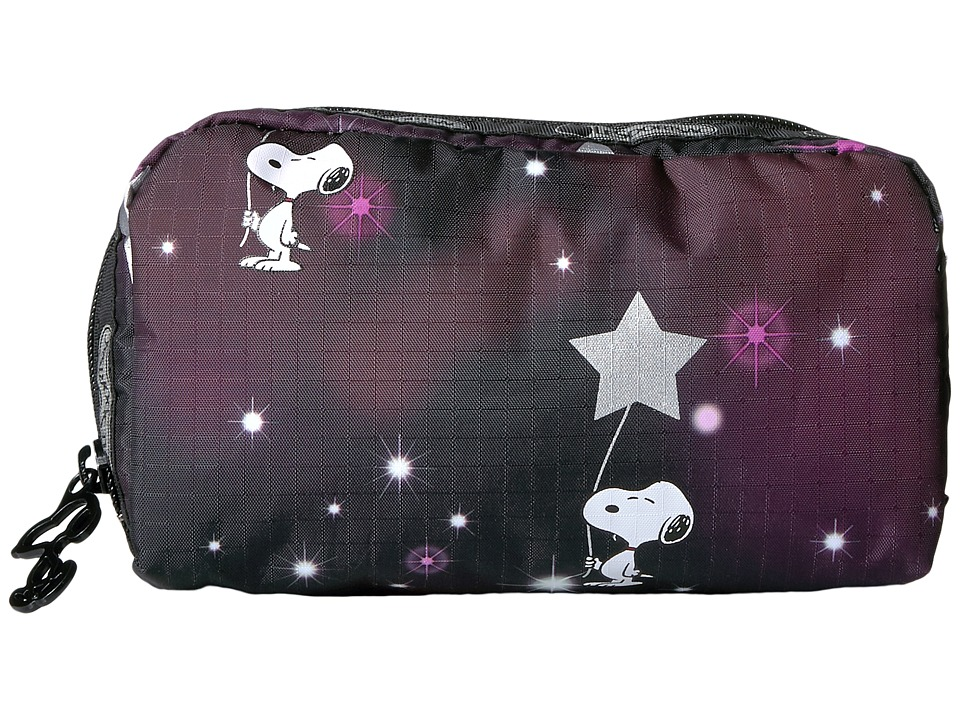 LeSportsac - Rectangular Cosmetic (Snoopy in The Stars) Clutch Handbags