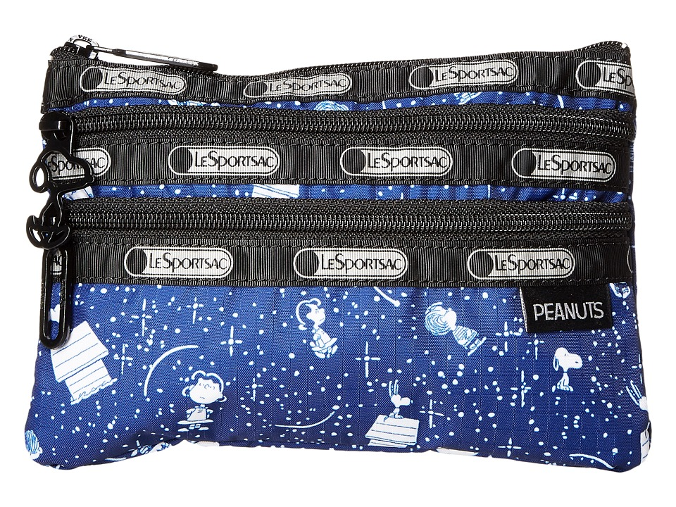 LeSportsac - Peanuts 3 Zip Cosmetic (Snoopy Stargazer) Cosmetic Case