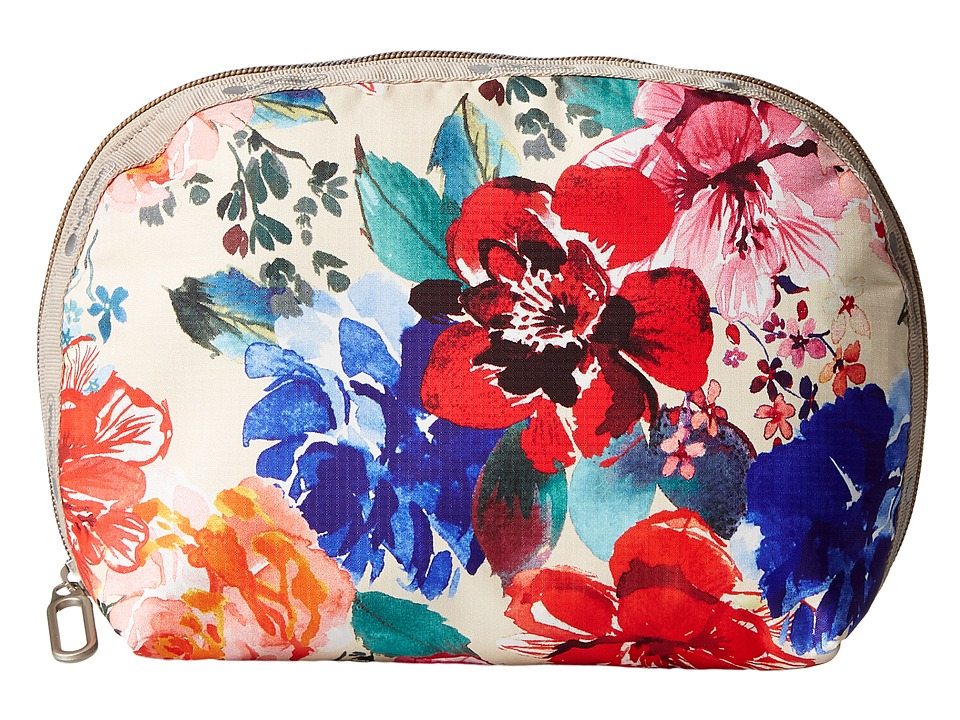 LeSportsac Half Moon Cosmetic (Romantics Cream) Cosmetic Case