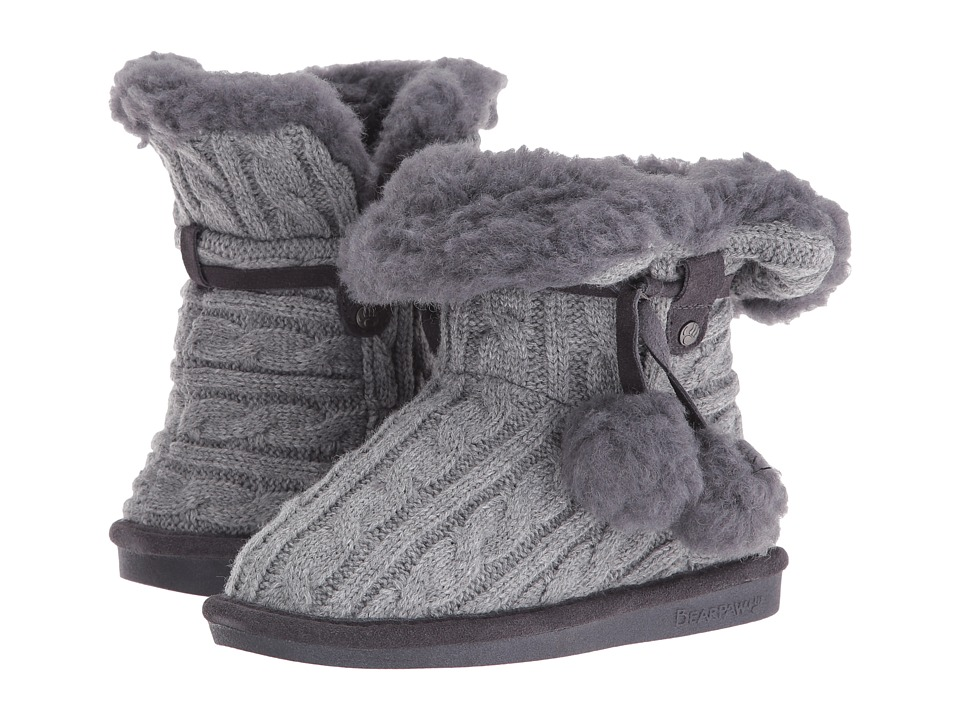 Bearpaw Kids Mary (Little Kid/Big Kid) (Charcoal) Girls Shoes