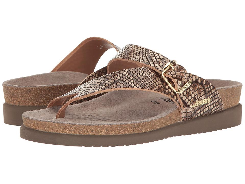 Mephisto - Helen Sun (Brown Reptilia) Women's Shoes