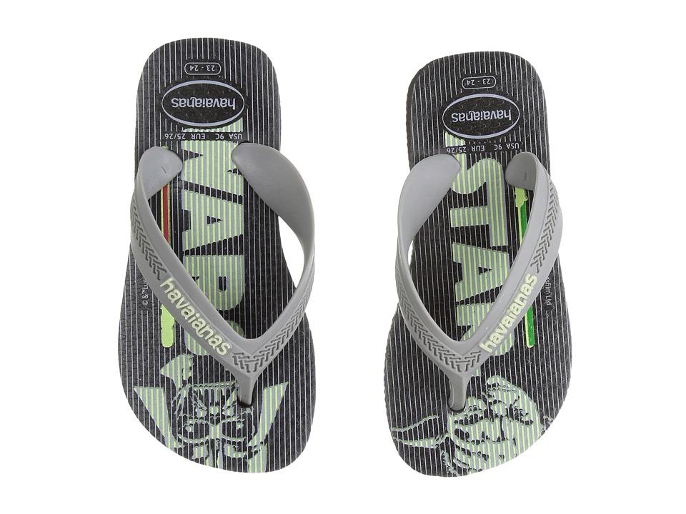 Havaianas Kids Max Star Wars Flip Flops (Toddler/Little Kid/Big Kid) (Black) Boys Shoes