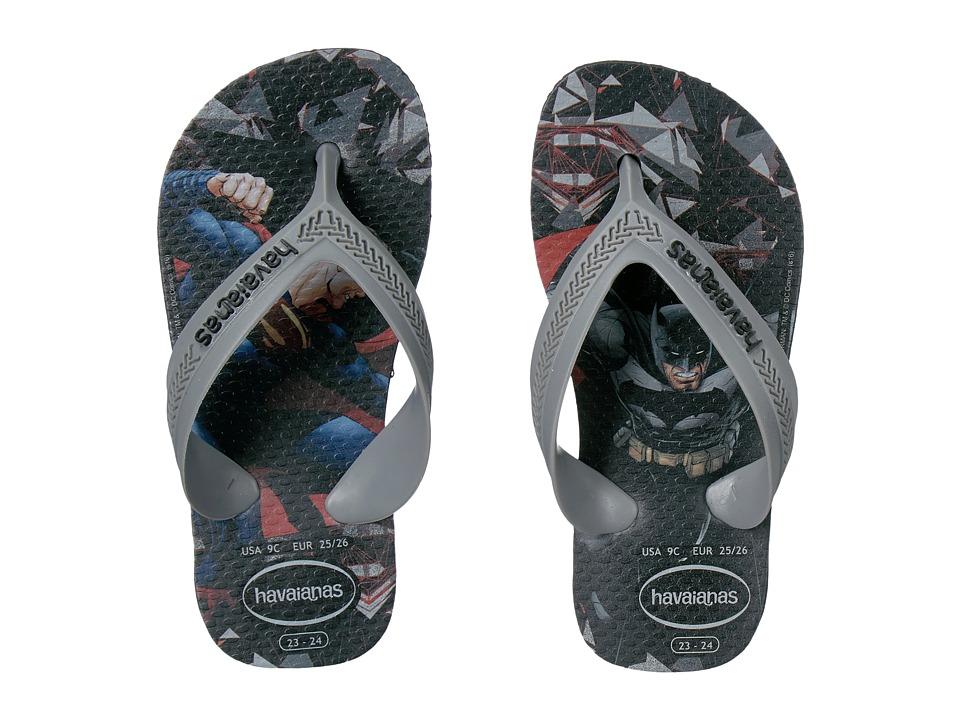 Havaianas Kids Max Heroes Flip Flops (Toddler/Little Kid/Big Kid) (Black) Boys Shoes