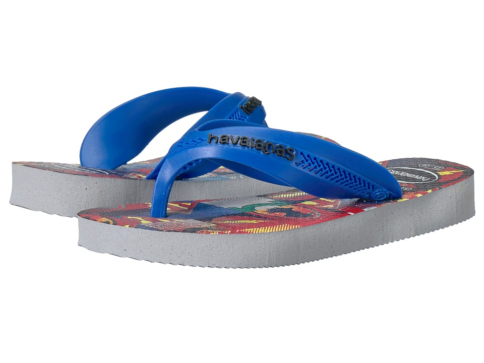 Havaianas Kids - Max Heroes Flip Flops (Toddler/Little Kid/Big Kid) (Ice Grey) Boys Shoes