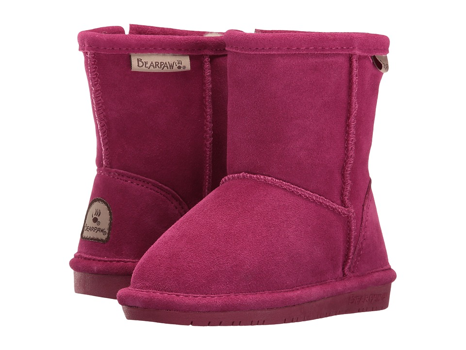 Bearpaw Kids - Emma Zipper (Toddler/Little Kid) (Charcoal/Pomberry) Girls Shoes
