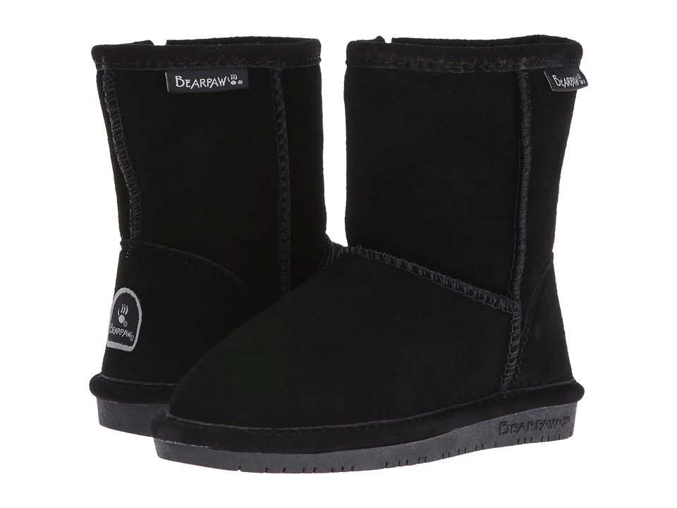 Bearpaw Kids - Emma Zipper (Toddler/Little Kid) (Black) Girls Shoes