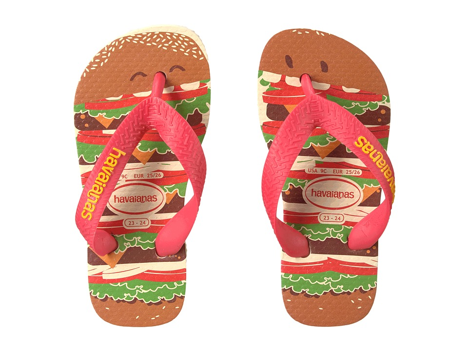 Havaianas Kids - Top Fast Food Flip Flops (Toddler/Little Kid/Big Kid) (Beige/Red) Kids Shoes