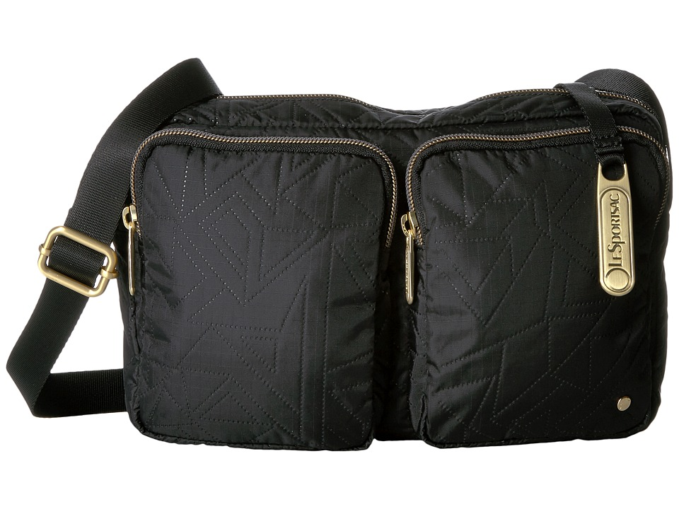 LeSportsac - Crosby Crossbody (Linear Maze Black) Cross Body Handbags