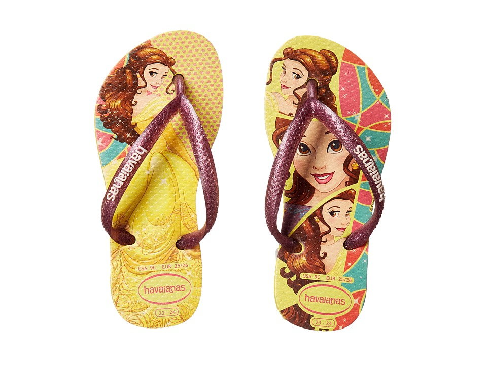 Havaianas Kids - Slim Princess Flip Flops (Toddler/Little Kid/Big Kid) (Light Yellow) Girls Shoes