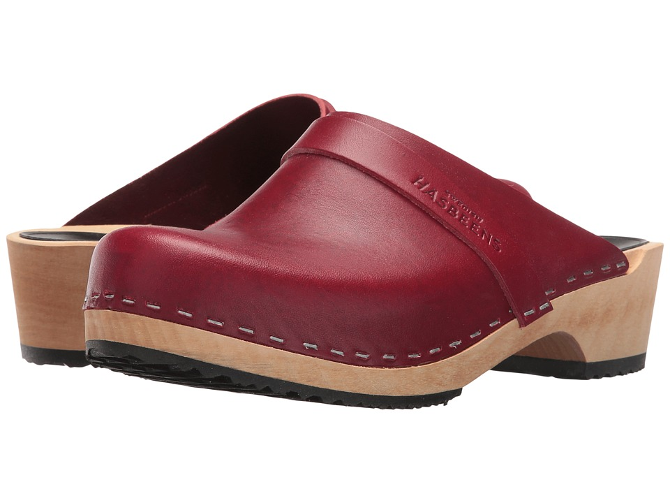 Swedish Hasbeens - Swedish Husband (Wine Red) Women's Clog Shoes
