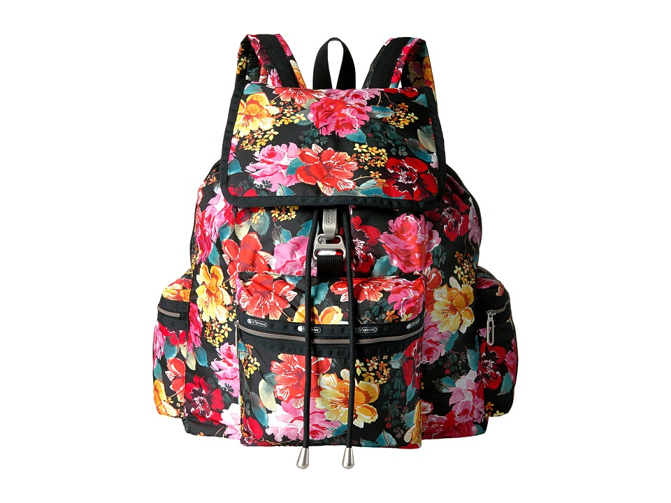 LeSportsac - 3 Zip Voyager (Romantics Black) Bags