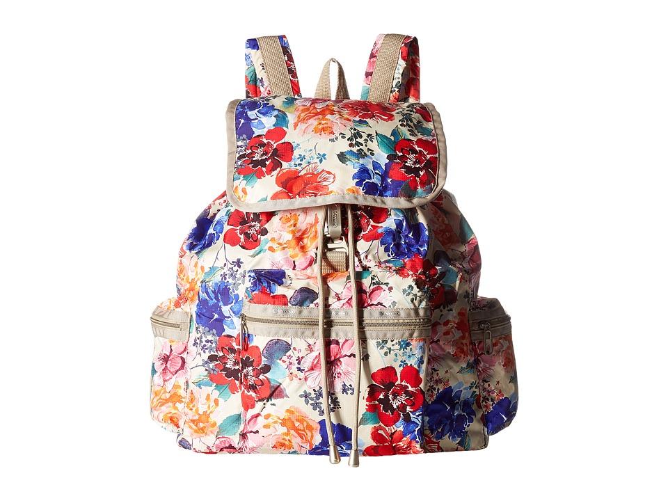 LeSportsac - 3 Zip Voyager (Romantics Cream) Bags