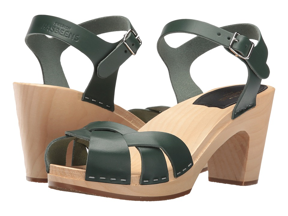 Swedish Hasbeens - Kringlan (Deep Green) High Heels