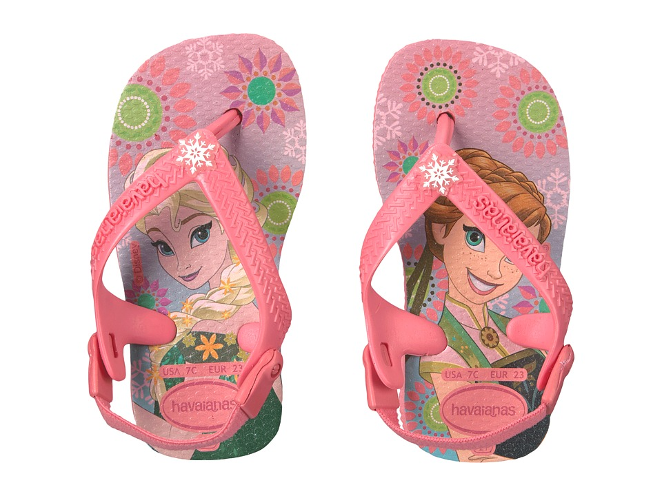 Havaianas Kids - Frozen Sandals (Toddler) (Rose) Girls Shoes