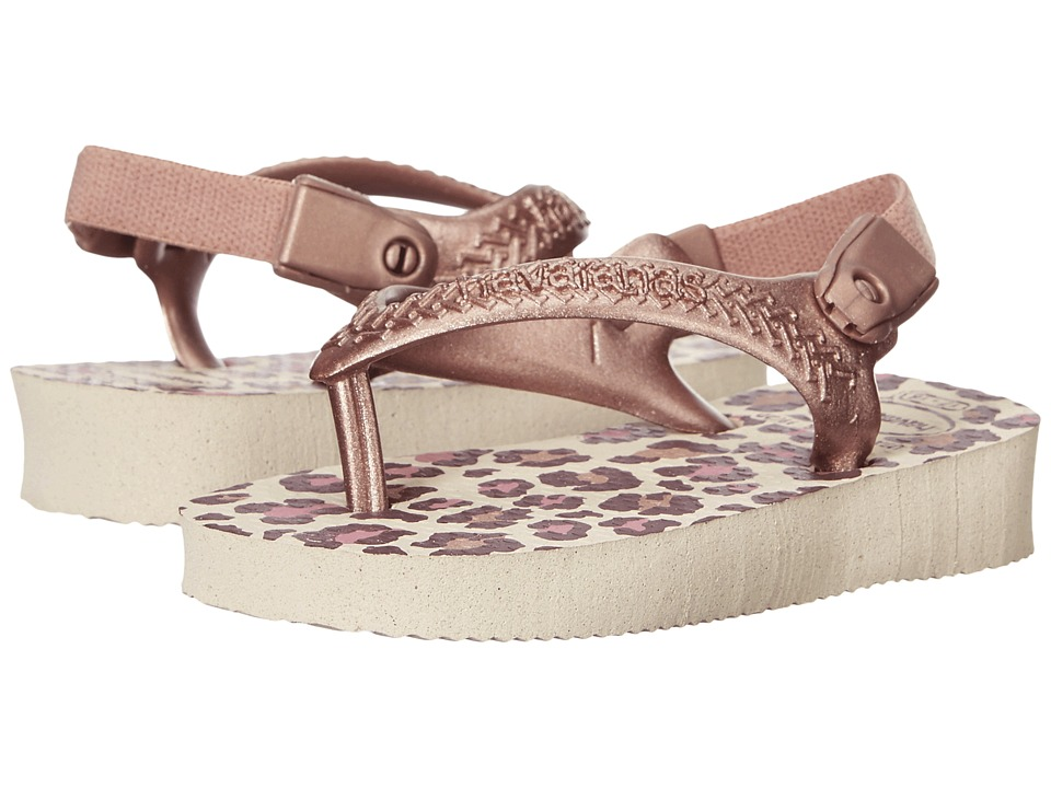 Havaianas Kids - Chic (Toddler) (Beige/Rose Gold) Girls Shoes