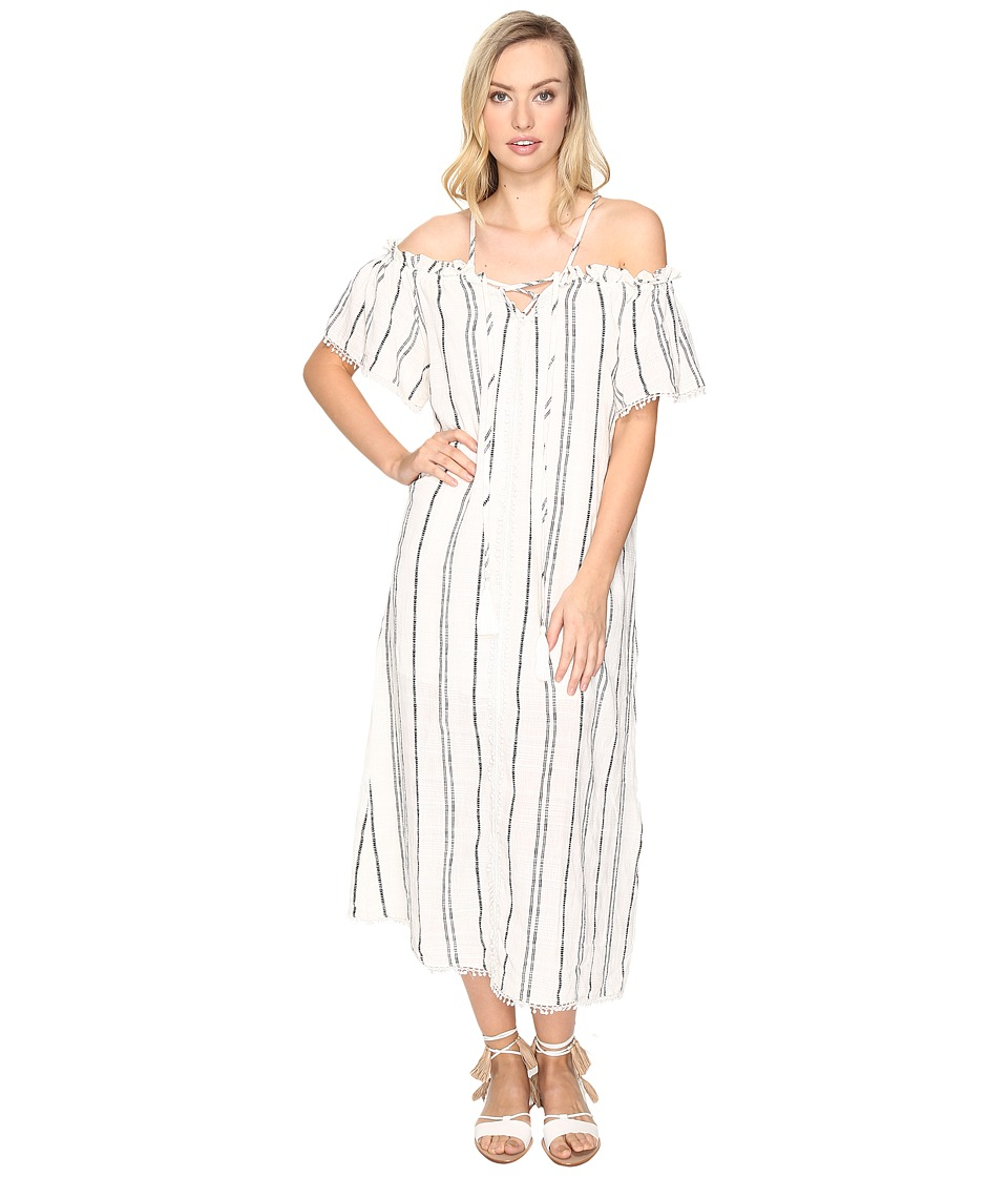 Red Carter - Isla Maxi Dress (Black Stripe) Women's Swimwear