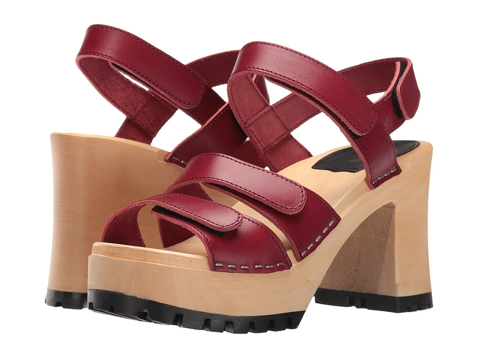 Swedish Hasbeens - Velcra (Wine Red) High Heels