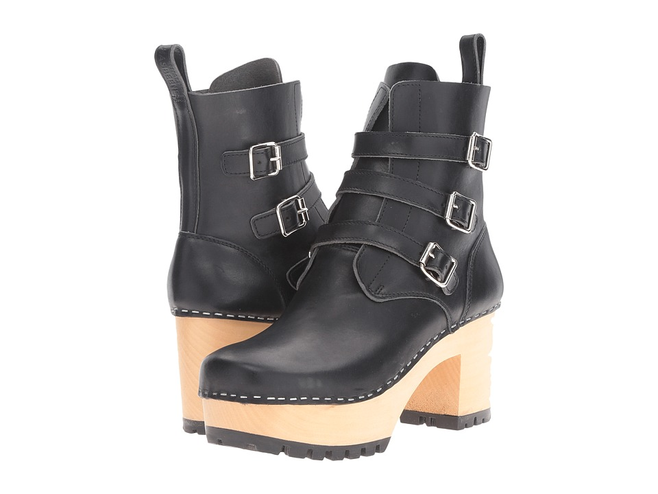 Swedish Hasbeens Buckle Boot (Black) Women