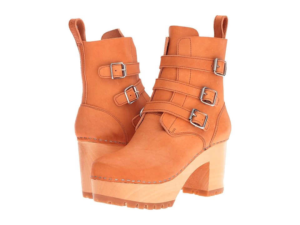 Swedish Hasbeens Buckle Boot (Nature) Women