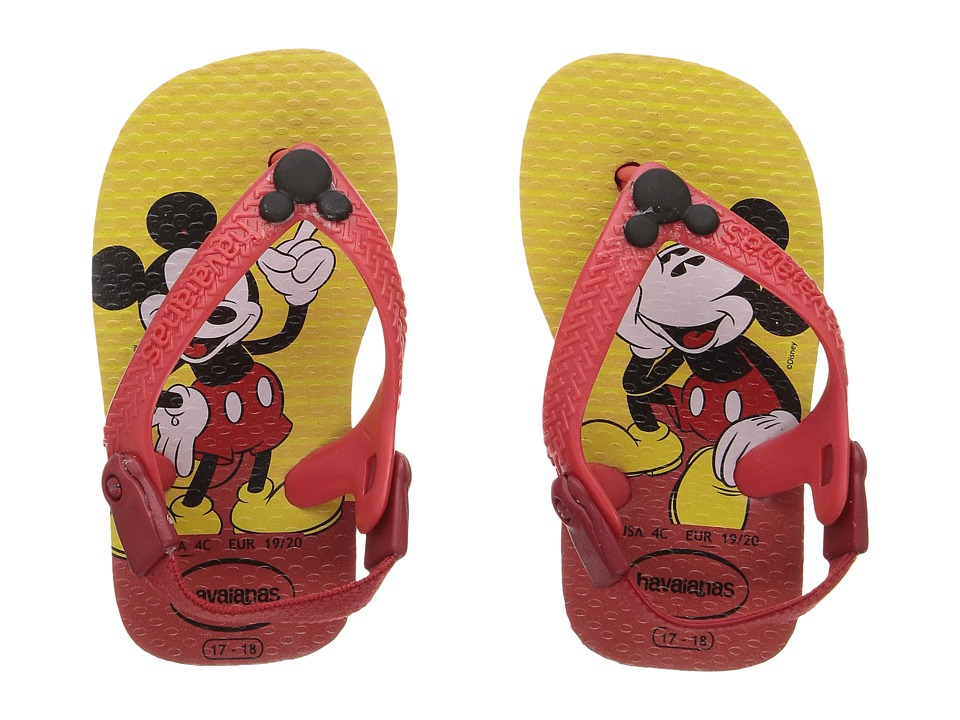 Havaianas Kids - Disney Classics Sandals (Toddler) (Red/Black) Boys Shoes