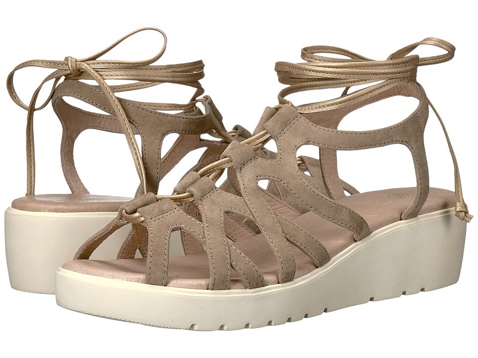 Johnston & Murphy - Chasity (Taupe Italian Kid Suede) Women's Sandals