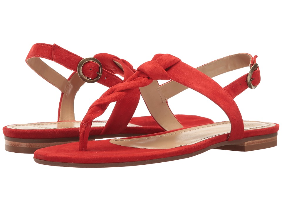 Johnston & Murphy - Holly (Flamingo Red Kid Suede) Women's Sandals