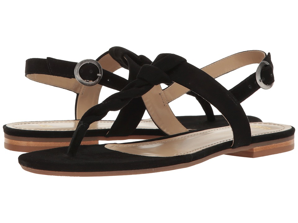 Johnston & Murphy - Holly (Black Kid Suede) Women's Sandals