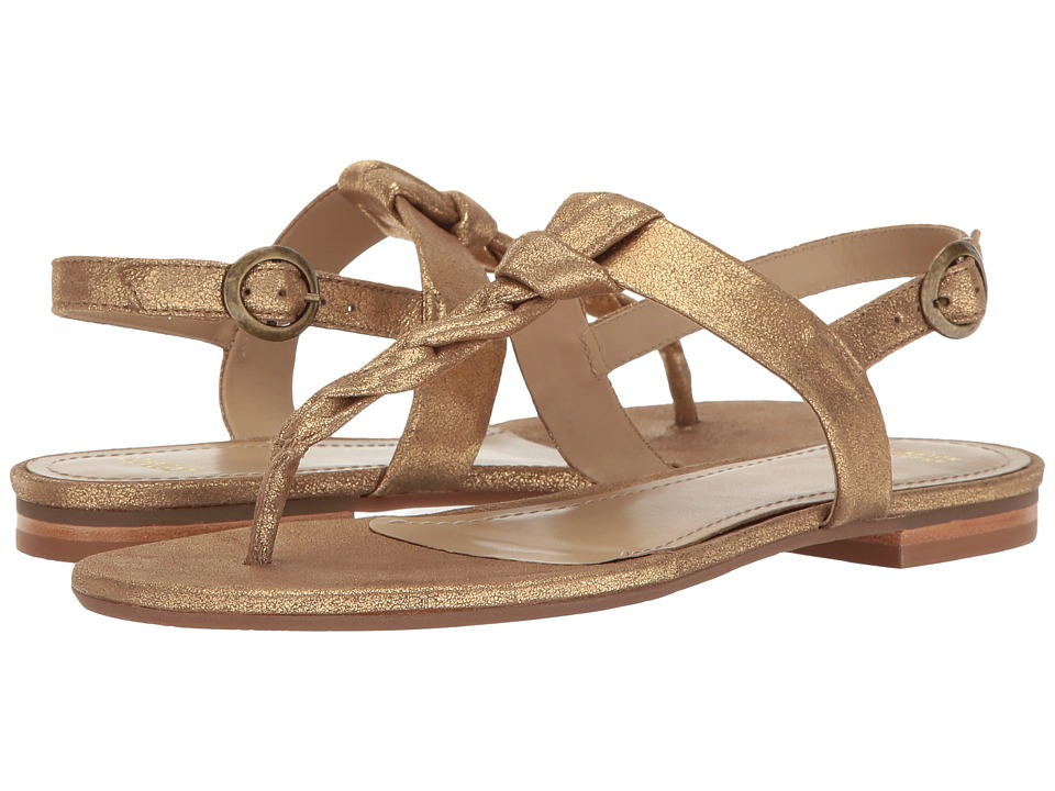 Johnston & Murphy - Holly (Gold Metallic Calfskin) Women's Sandals