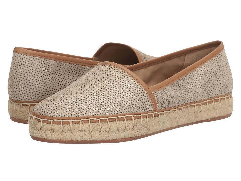 Johnston & Murphy - Jaden (Gold Laser Cut Italian Metallic Suede) Women's Flat Shoes