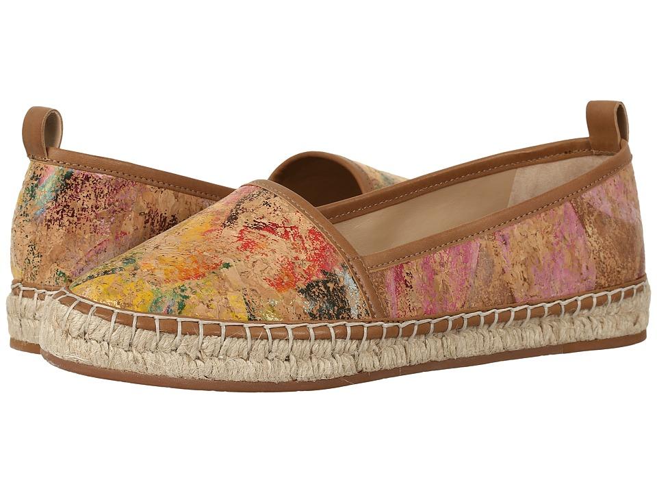 Johnston & Murphy - Jaden (Natural Cork/Floral Print) Women's Flat Shoes