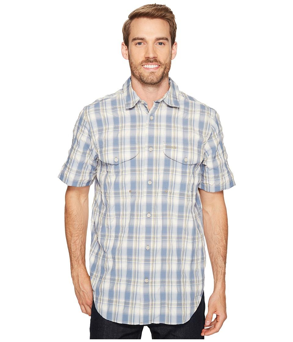 Filson Twin Lakes Short Sleeve Sport Shirt (Blue/White/Moss Plaid) Men