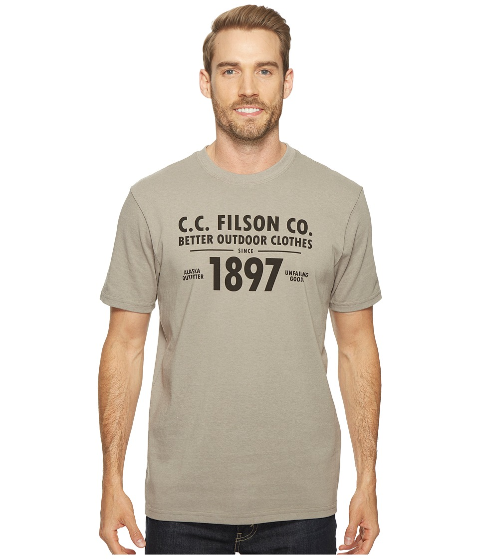 Filson - Short Sleeve Outfitter Graphic T-Shirt (Steeple Gray (Outdoor)) Men's T Shirt