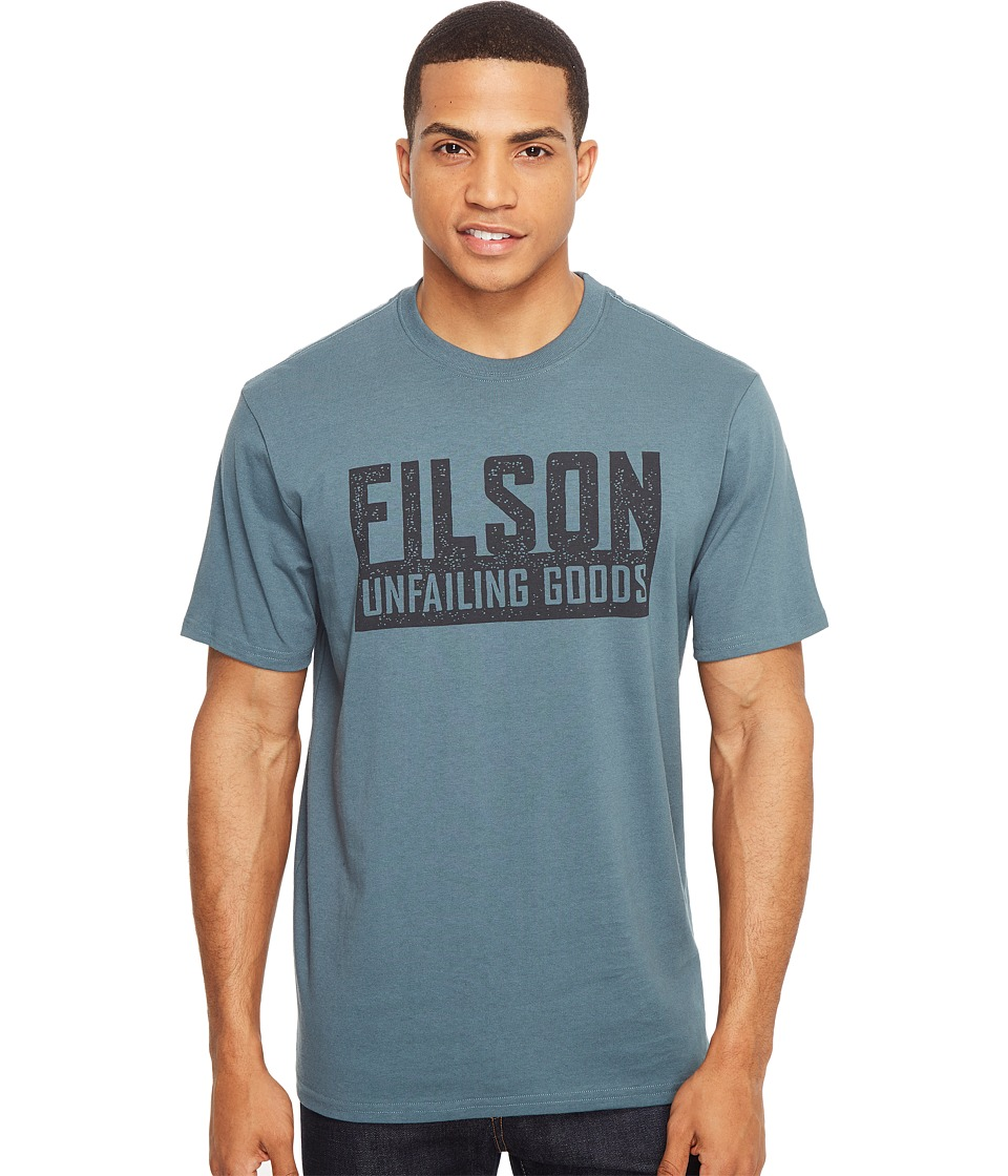 Filson Short Sleeve Outfitter Graphic T-Shirt (Faded Blue (Boundary)) Men's T Shirt