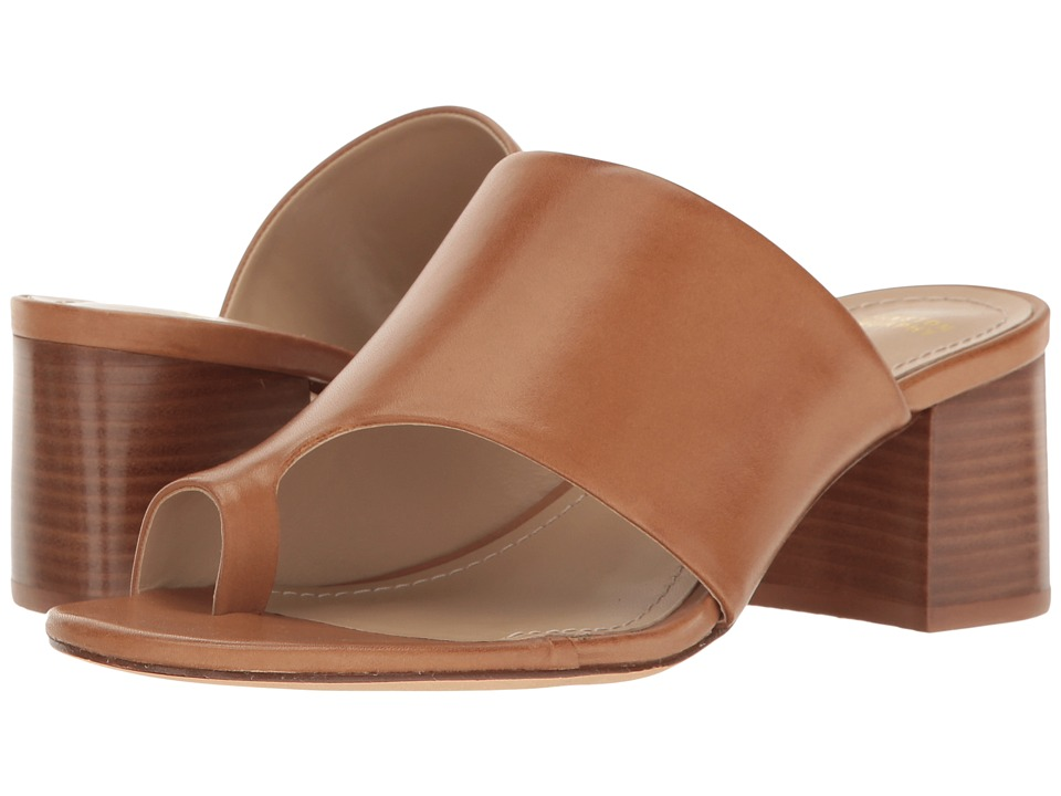 Johnston & Murphy - Kelsey (Tan Soft Calfskin) Women's Slide Shoes