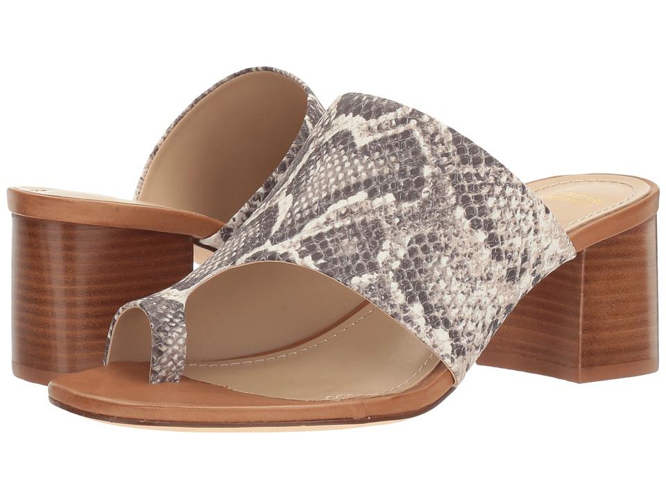 Johnston & Murphy - Kelsey (Natural Snake Print Leather) Women's Slide Shoes