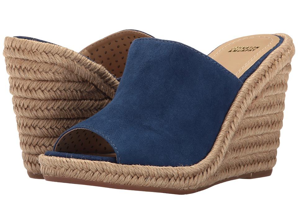 Johnston & Murphy - Myrah (Navy Kid Suede) Women's Wedge Shoes